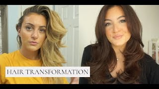 the CORRECT way to dye you hair BRUNETTE from BLONDE! *AT HOME TRANSFORMATION* GREAT FOR QUARANTINE