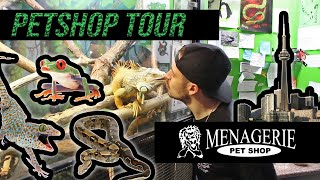 MENAGERIE PETSHOP TOUR! Exotic pet shop in downtown Toronto - snakes, lizards, frogs and more!
