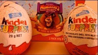 MADAGASKER 3 Kinder Surprise Eggs U...