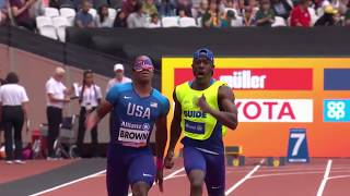 Men's 100m T11 | Round 1 Heat 3| London 2017 World Para Athletics Championships
