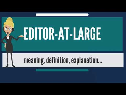 What is EDITOR-AT-LARGE? What does EDITOR-AT-LARGE mean? EDITOR-AT-LARGE meaning & explanation