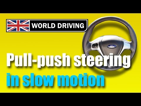 How to steer a car correctly - pull push steering technique. Steering a car properly.