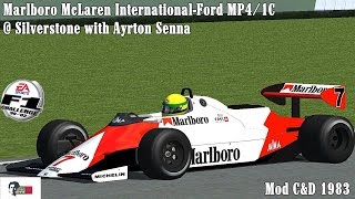 [F1C] Marlboro McLaren International-Ford MP4/1C @ Silverstone with Ayrton Senna [HD]