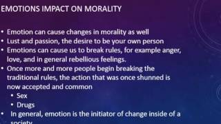 The Change Of Morality