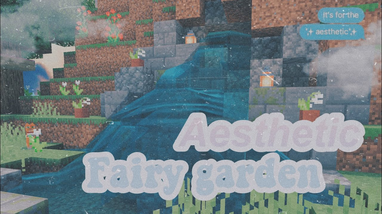 Aesthetic Fairy Garden Minecraft Speedbuild Read