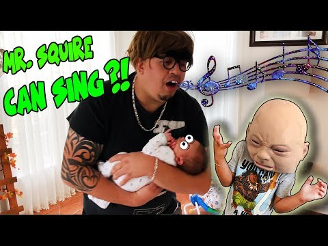BABY DRIVING CAR?! MAN SNEAKS IN HOUSE TO HOLD NEWBORN BABY?! GETS CAUGHT! DINGLE HOPPERZ SKIT!