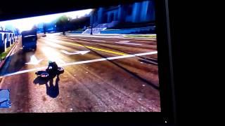 Vidéo cascade avec la moto