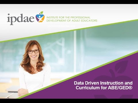 Data Driven Instruction And Curriculum For ABE/GED (Webinar)