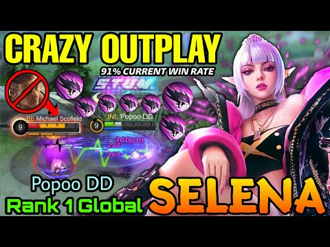 YOU CAN'T STOP ME Selena Insanely Outplay! - Top 1 Global Selena by Popoo DD - M