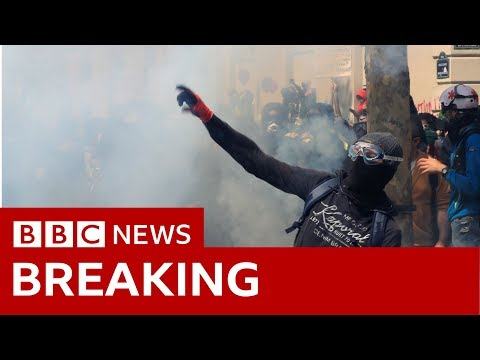 Paris: May Day Protests - BBC News