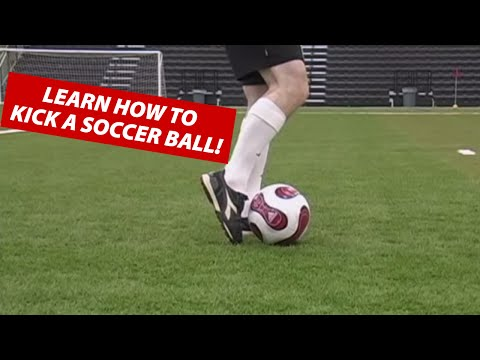 How To Kick A Soccer Ball Football  Soccer Kicking Shooting Technique ★