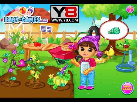 เกมส์ปลูกผักสวนครัวออนไลน์ Y8 Dora Vegetable Planting