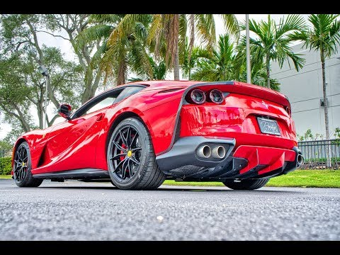 Ferrari 812 Superfast 789-hp 6.5-liter V-12 BEAST Top Speed – 211 mph – Start up SOUND Interior