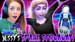 👽SECRET STOWAWAY FROM SPACE?!💫(The Sims 4 IN THE CITY #32!💒)