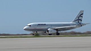 Απογείωση AIRBUS A319 (SX-DGF) της Aegean Airlines από Αλεξανδρούπολη