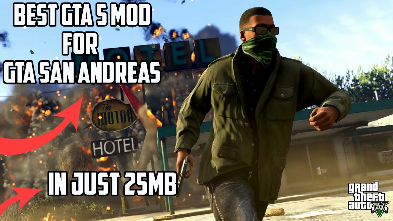 [25mb]Download best GTA 5 graphics mod for GTA San Andreas highly  compressed for Android device😊😊