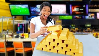 Tipping Waitresses With Real Gold Bars