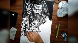 Speed drawing Aquaman / Jason Momoa