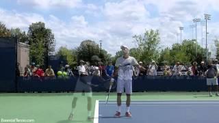 Подача в замедленном повторе. Большой теннис.