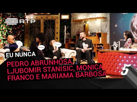 """""""Eu Nunca"""" com Pedro Abrunhosa, Ljubomir Stanisic, Mónica Franco e Mariama Barbosa"""