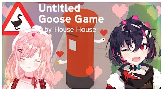 """[ Untitled goose game ] Okay... Let's Go! We're a perfect goose duo Yuuna-Chan! ( ๑´•ω•)۶"""""""