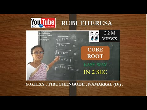 Cube Root Easy Way