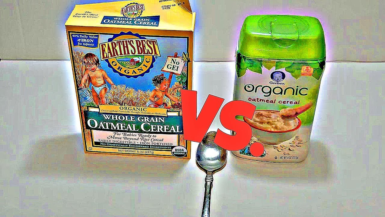 Gerber baby cereal organic oatmeal vs earths best certified gerber baby cereal organic oatmeal ccuart Images