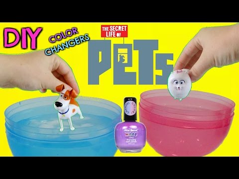 D.i.Y. THE SECRET LIFE OF PETS Color Change Mood Nail Polish! Easy Do it Yourself Project TUYC