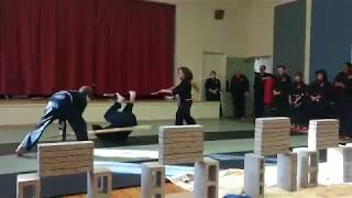 5 person martial arts demonstration Part 4