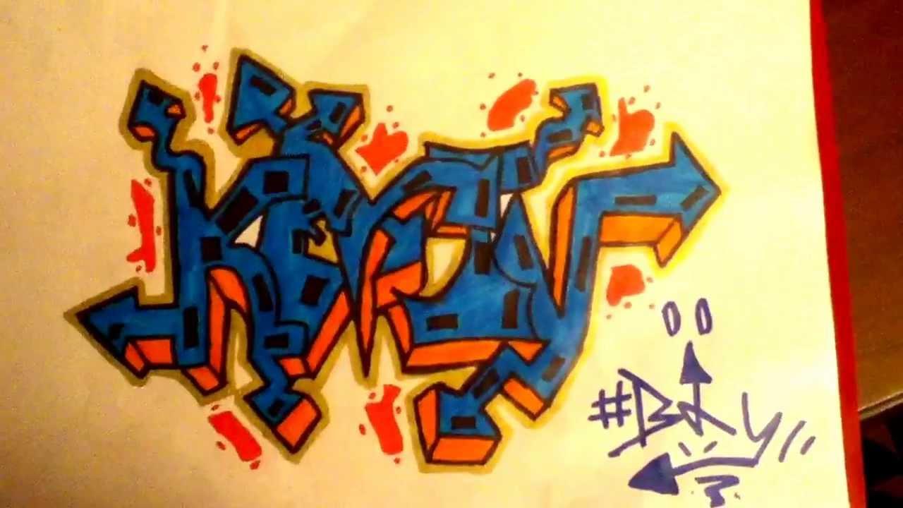 Graffiti kevin sur papier youtube