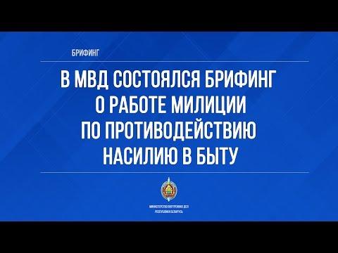 В МВД состоялся брифинг о работе милиции по противодействию насилию в быту
