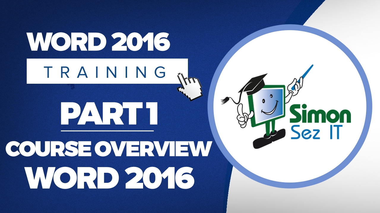 word 2016 for beginners part 1 overview of the course youtube