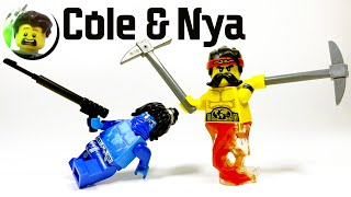 Custom LEGO Avatar Cole & Nya Minifigures from Ninjago Prime Empire