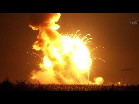 NASA rocket explodes 6 seconds after takeoff; Virgin Galactic crash - space fails compilation