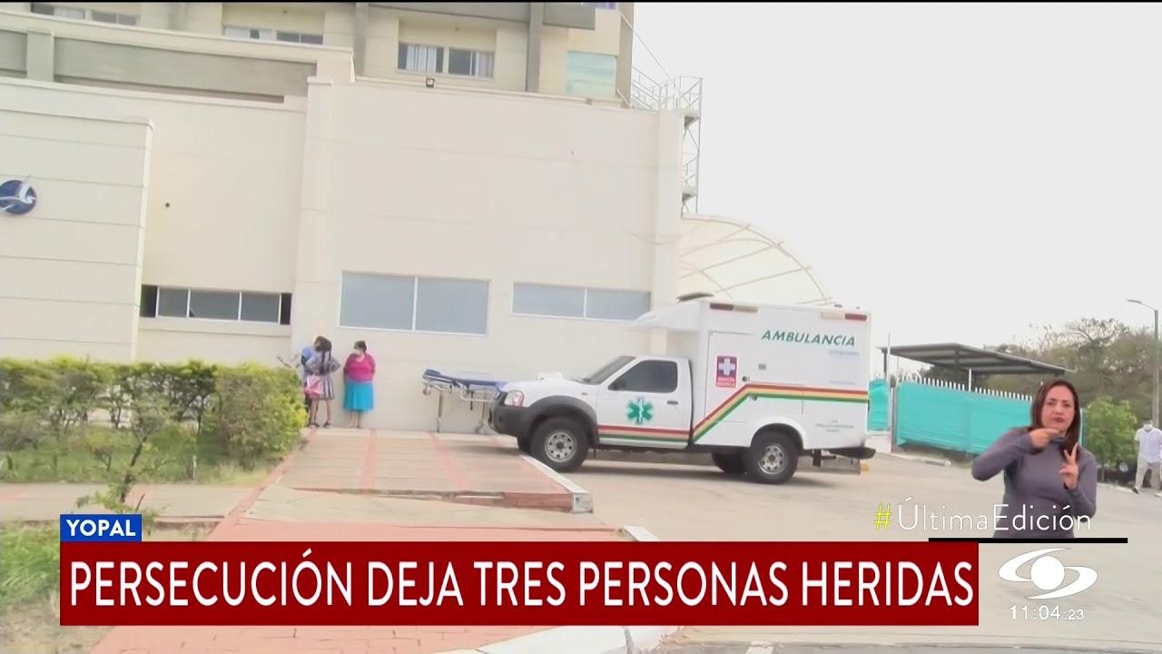 NOCHE DE HORROR EN YOPAL, TIROTEO DEJA UN POLICÍA Y DOS PRESUNTOS DELINCUENTES HERIDOS