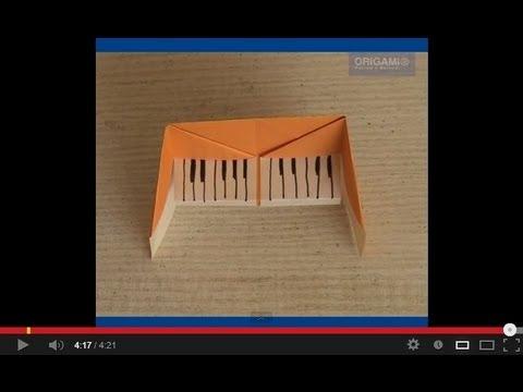 Как сделать пианино оригами