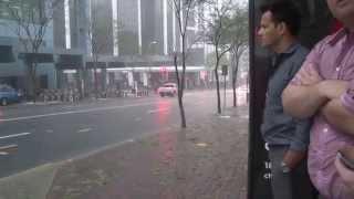 Brisbane Hail Storm 27.11.2014 cricket ball sized hail storm.  Flooding