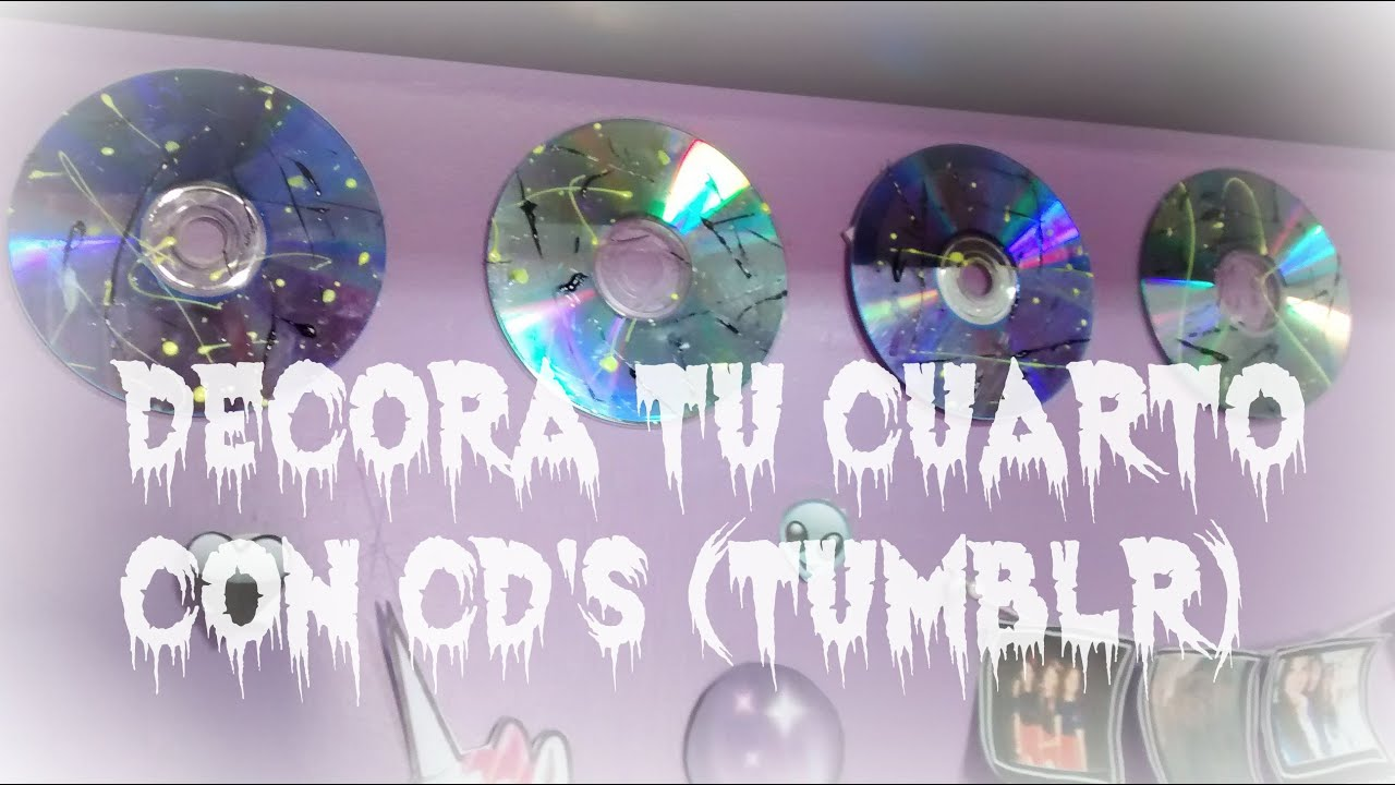 Diy decora tu cuarto con cd 39 s tumblr aledarklol for Manualidades para decorar tu cuarto
