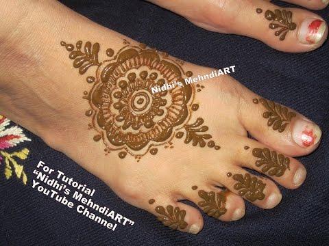 Leg Mehndi Designs Step By Step : Easy diy mandala henna designs for feet circular gol tikki mehndi