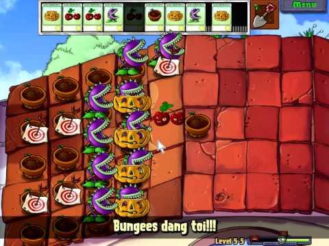 Plants vs zombies (Trồng cây bắn zombie) - Cấp độ 5-5 (Game Việt Hóa)