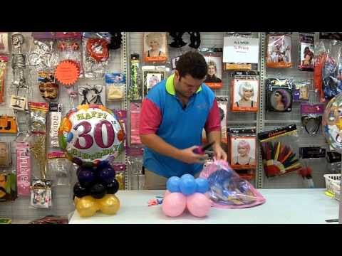 How to make a balloon centrepiece - Redcliffe Party Supplies