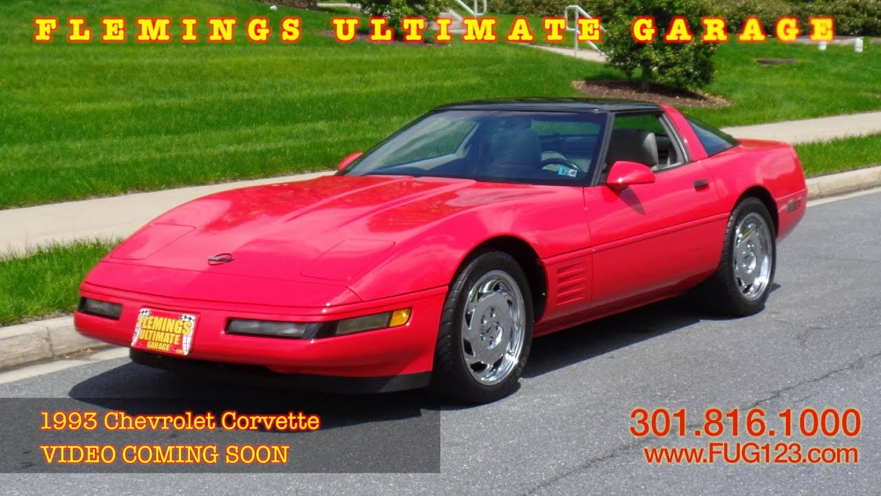 1993 Chevrolet Corvette VIDEO COMING SOON flemings ultimate garage ...