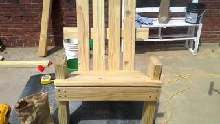 How To Build A Kid Size Adirondack Chair Part 2