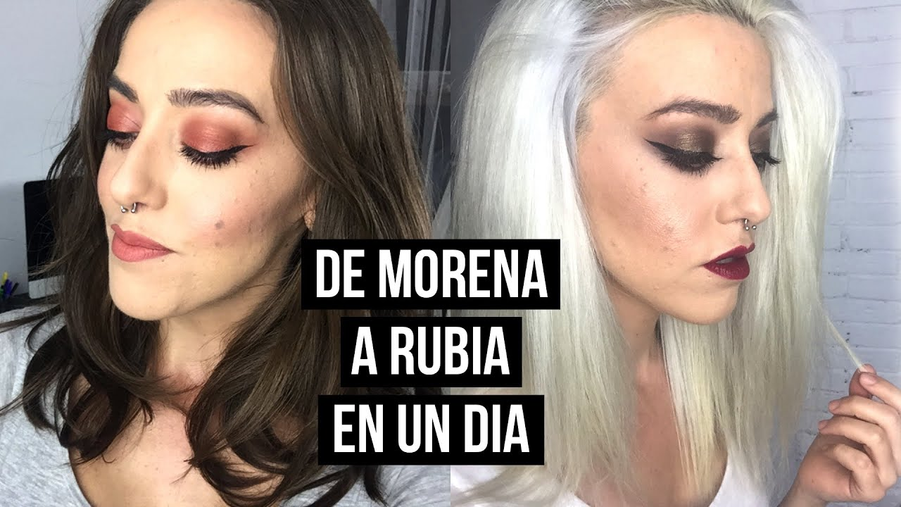 DE MORENA A RUBIA EN UN DÍA