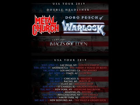 METAL CHURCH and Doro Pesch announce 2019 spring U.S. Tour..!