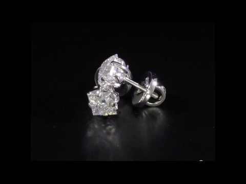 "Пусеты с бриллиантами ""Принцесса"""