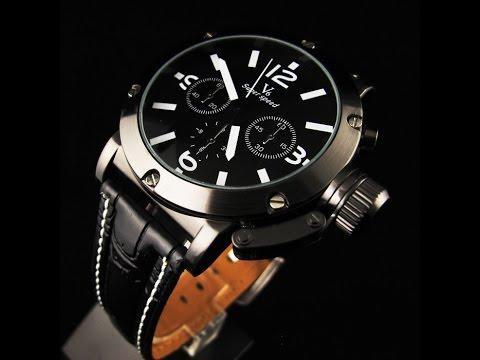 4feeb444096 Relógios Masculinos Pulseira de Couro de Pino Grande do Aliexpress