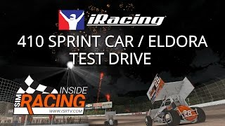 iRacing 410 Sprint Car Test Drive on a Slick Eldora Speedway