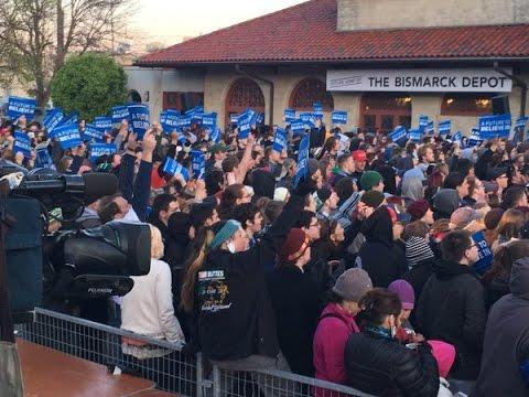 Full Speech: Bernie Sanders Rally in Bismarck, North Dakota (5-13-16) Northern Pacific Railway Depot