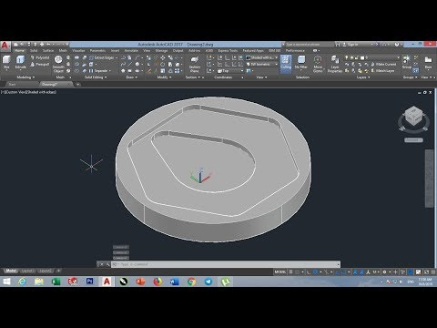 CAD CAM TUTORIAL PART 3 IN HINDI BY VCE, AUTODESK AUTOCAD,2D TO 3D thumbnail